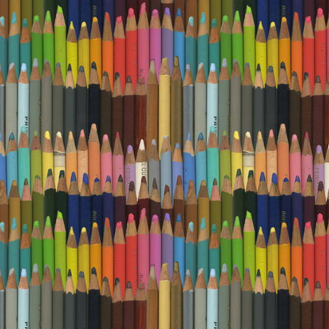 colored pencils fabric by weavingmajor on Spoonflower - custom fabric