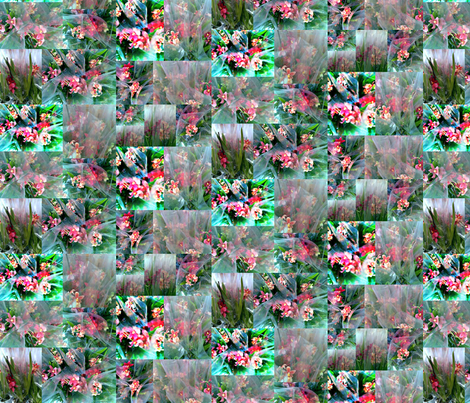 BOUQUET_COLLAGE_FILTRI fabric by meanmagenta on Spoonflower - custom fabric