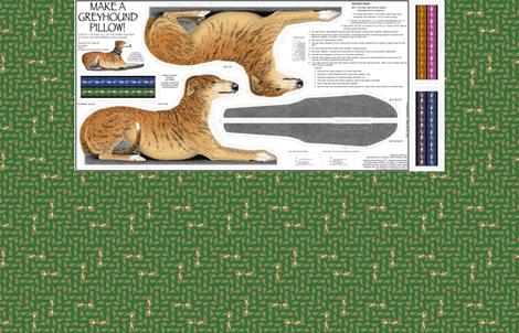 Greyhound Pillow Kit - Red Brindle Female fabric by artbyjanewalker on Spoonflower - custom fabric