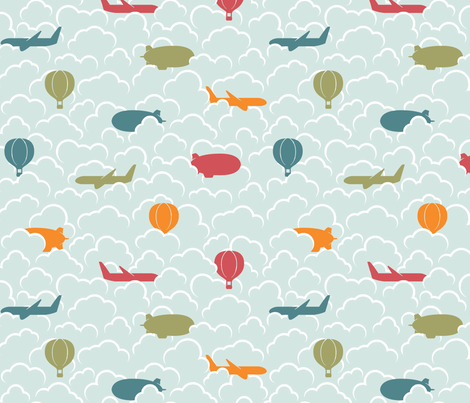 Head in the Clouds fabric by leighr on Spoonflower - custom fabric