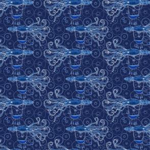 Blue Steampunk Squid