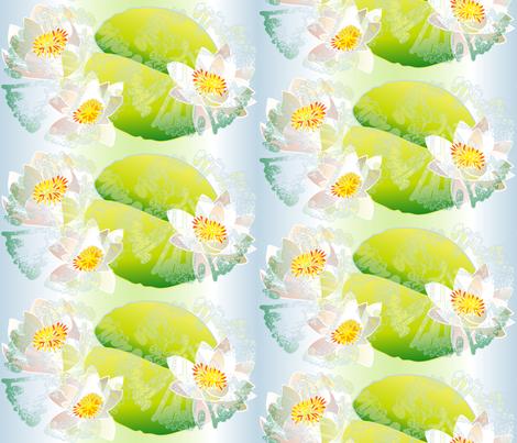 waterlily fabric by veerapfaffli on Spoonflower - custom fabric