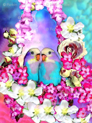 Love Birds in a Flower Bower