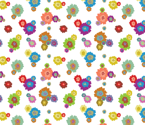 Splash of Flowers fabric by donnamarie on Spoonflower - custom fabric