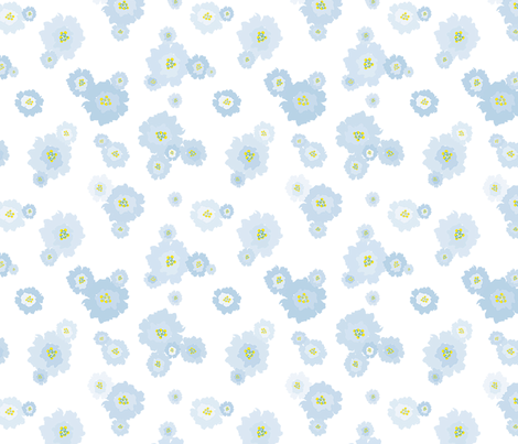 Blue Flowers fabric by donnamarie on Spoonflower - custom fabric