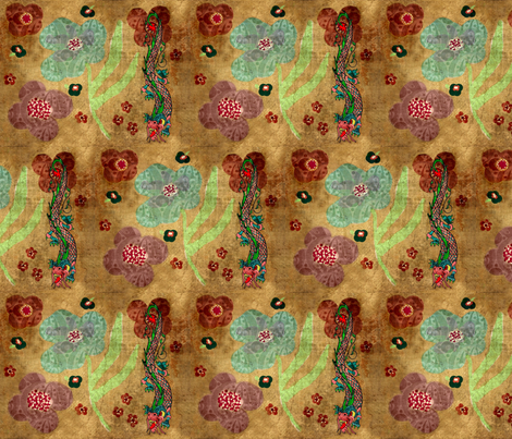 Bohemian dragon / Large fabric by paragonstudios on Spoonflower - custom fabric