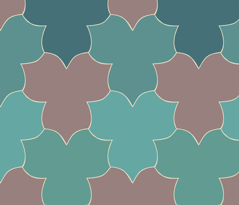 lively-trilliums-new-clrs-blgrMgrn-midbrn300 fabric by mina on Spoonflower - custom fabric