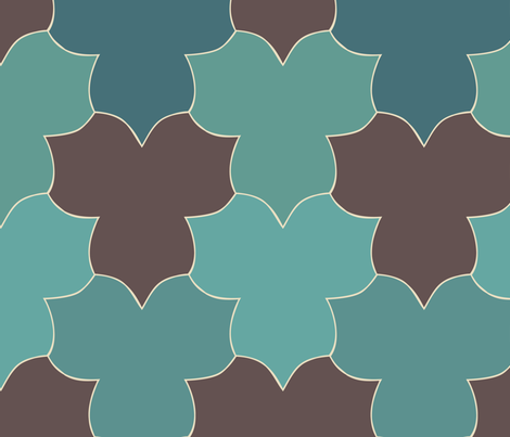 lively-trilliums-new-clrs-blgrnsMgrns-dkbrn300 fabric by mina on Spoonflower - custom fabric