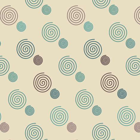 decorator-spirals-multi-mgrns-sand-sm72 fabric by mina on Spoonflower - custom fabric