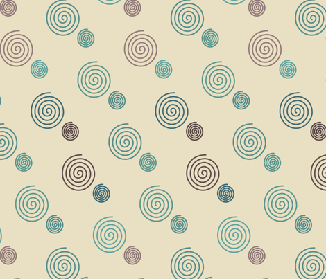 decorator-spirals-multi-mgrns-sand fabric by mina on Spoonflower - custom fabric