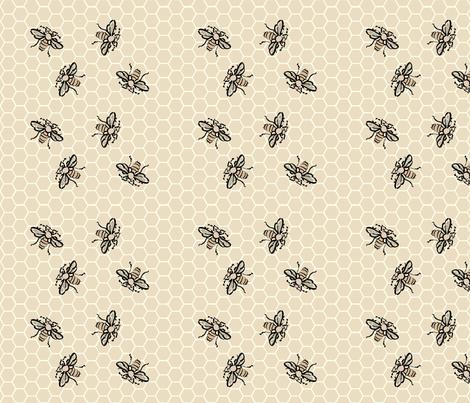 Honeybees-Dance-tan40 fabric by mina on Spoonflower - custom fabric