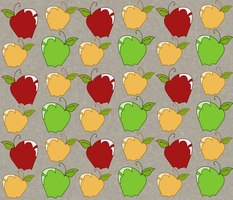 AppleSnaps in Grey fabric by garwooddesigns on Spoonflower - custom fabric