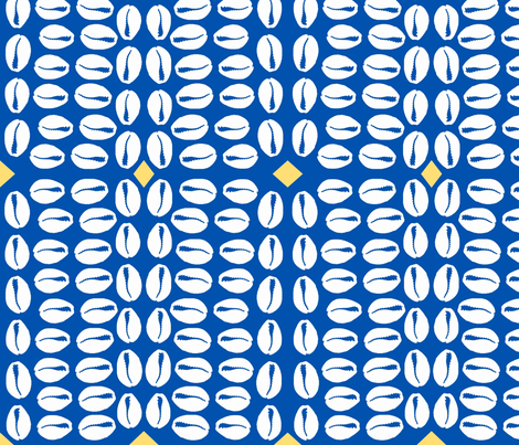 Delft cowrie fabric by nalo_hopkinson on Spoonflower - custom fabric