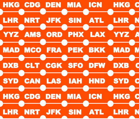 Airports Orange fabric by alexsan on Spoonflower - custom fabric