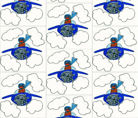 birdcopter fabric by jazzberi on Spoonflower - custom fabric