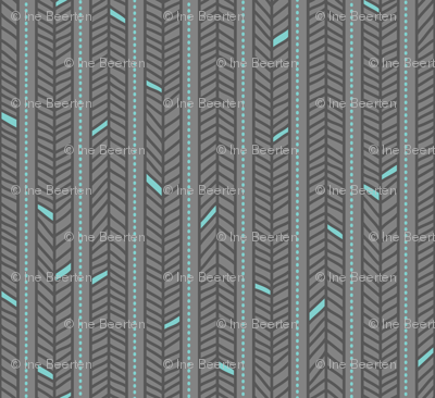 Feather Stripes Grey