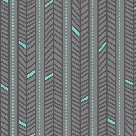 Feather Stripes Grey fabric by zesti on Spoonflower - custom fabric