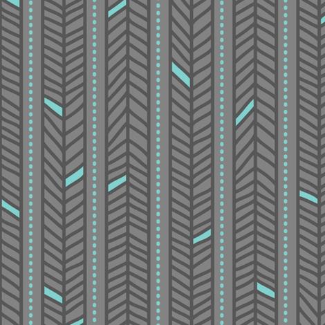 Feather Stripes Grey fabric by zesti on Spoonflower - custom fabric
