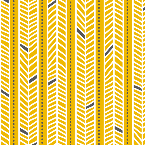 Feather Stripes Yellow fabric by zesti on Spoonflower - custom fabric