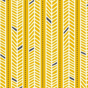 Feather Stripes Yellow
