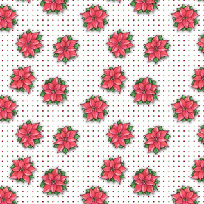 Poinsettia Joy Dots Small