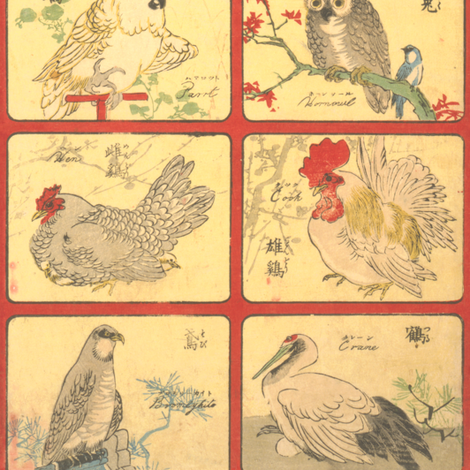 A Bird fabric by feebeedee on Spoonflower - custom fabric