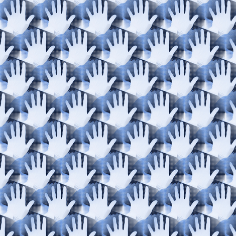 Helping Hand fabric by donna_kallner on Spoonflower - custom fabric