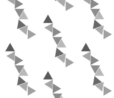 Abstract Bunting Grey fabric by laurenskye on Spoonflower - custom fabric