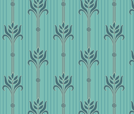 Decorator-Collection-Coordinates-STRIPE-mgrn fabric by mina on Spoonflower - custom fabric