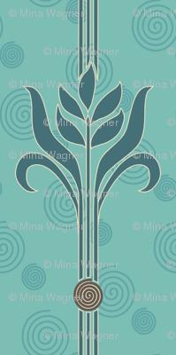 Decorator-Collection-Coordinates-STRIPE-1spiral-sand-brn-mgrnspiralbkgr