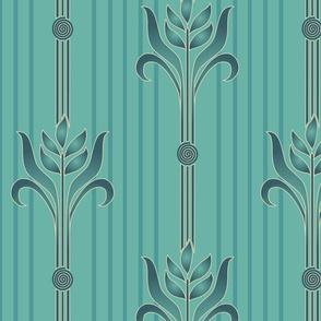 Decorator-Collection-Coordinates-STRIPE-1spiral-sand-brn-ltmgrn-w-stripes