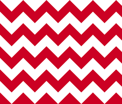 Personalised Name Fabric Coordinate - Red Chevrons fabric by shelleymade on Spoonflower - custom fabric