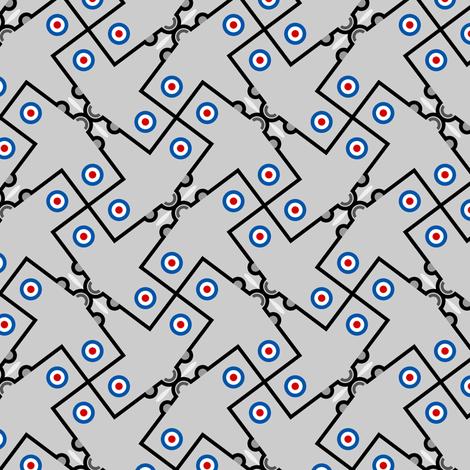 mod plane 4g in 1 fabric by sef on Spoonflower - custom fabric