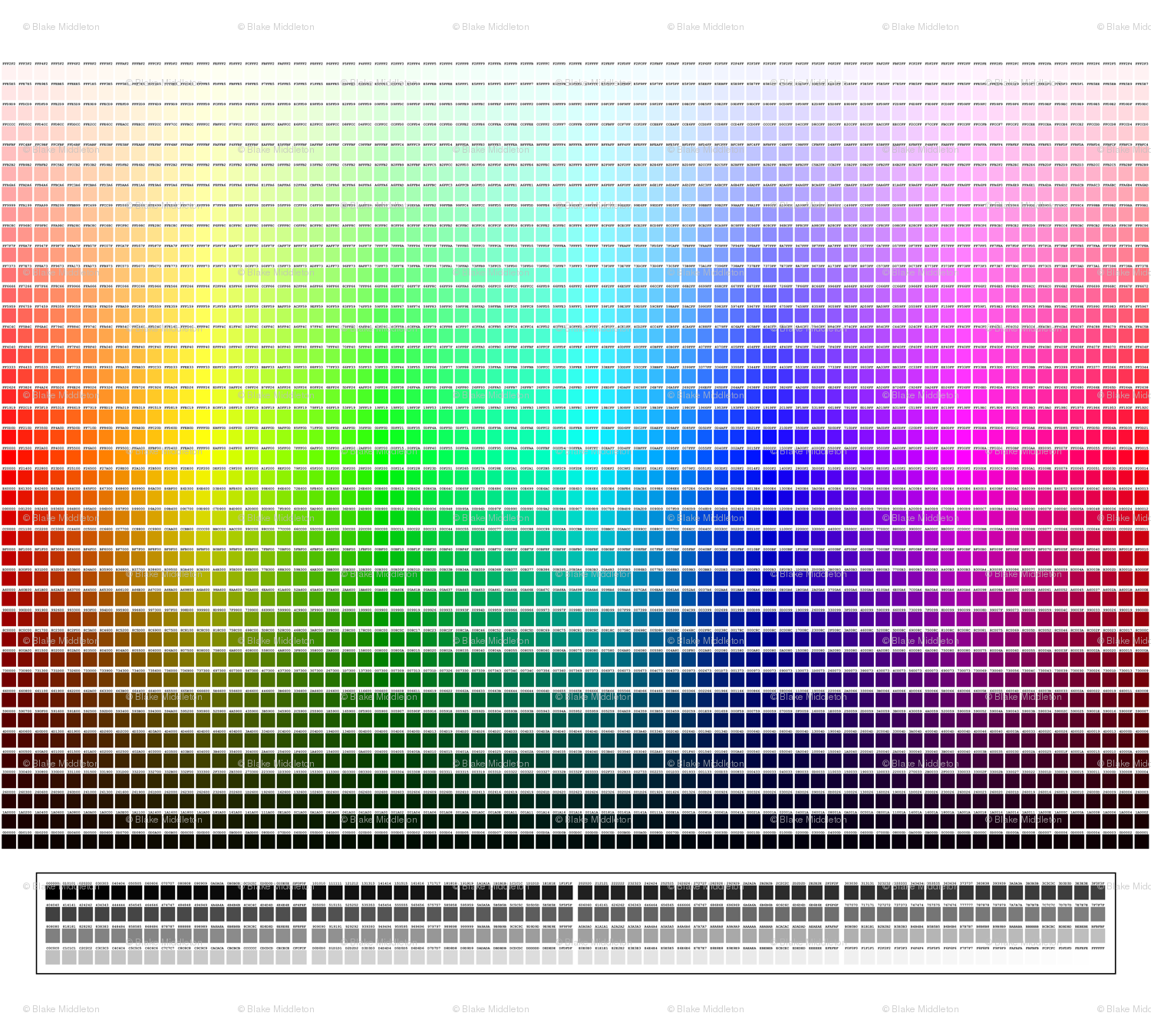 Game color chart - Color Charts Html