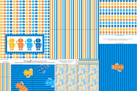 School Starter Pack - Cut and Sew FQ Boy fabric by shelleymade on Spoonflower - custom fabric