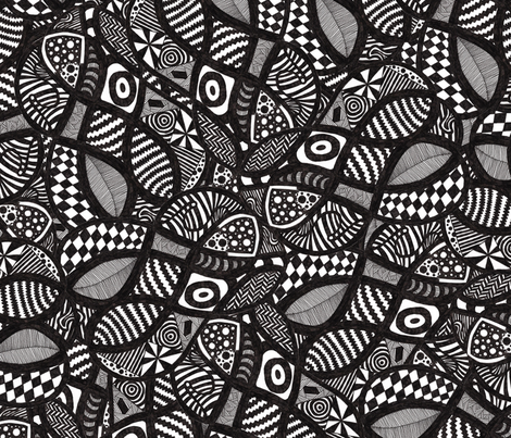 Monochrome Madness fabric by glanoramay on Spoonflower - custom fabric