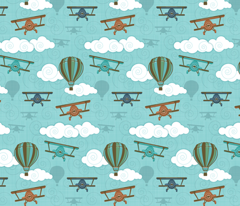 Blue Skies fabric by run_quiltgirl_run on Spoonflower - custom fabric
