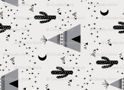 Teepee - Monochrome