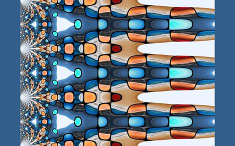 HyperbolicPeachWideFabric fabric by frankfarris on Spoonflower - custom fabric
