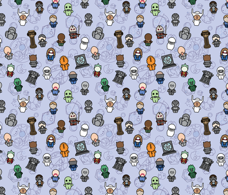 New Monsters and Aliens fabric by studiofibonacci on Spoonflower - custom fabric