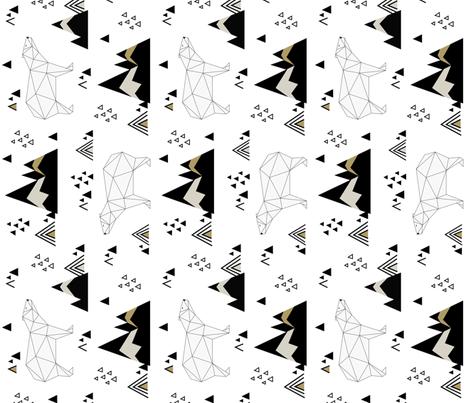 Polar Bears (vertical) fabric by kimsa on Spoonflower - custom fabric