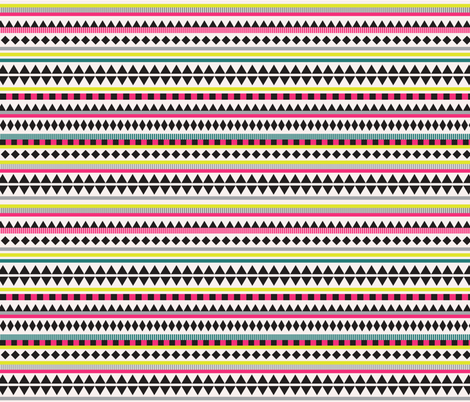 Aztec Bright  fabric by kimsa on Spoonflower - custom fabric