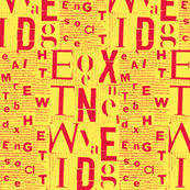 yellow red letters