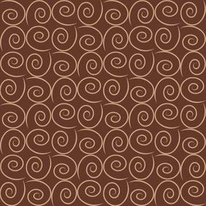"Mocha-Cocoa Swirls - Dark - 8"""