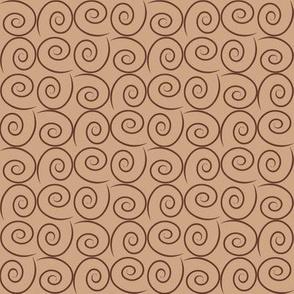 """Mocha-Cocoa Swirls - Light - 8"""""""