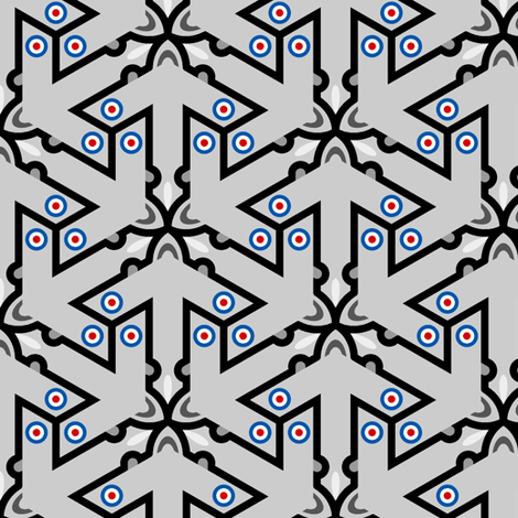 mod plane 3x in 1 fabric by sef on Spoonflower - custom fabric