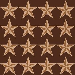 "Mocha-Cocoa Star - Dark - 2"""