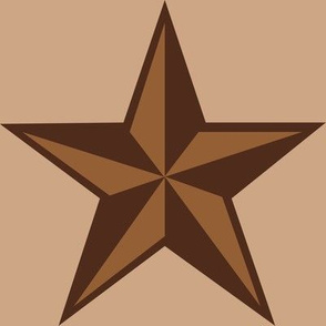 """Mocha-Cocoa Star - Light - 8"""""""
