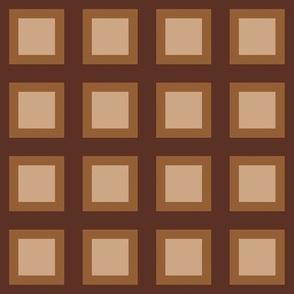 """Mocha-Cocoa Square - Caramel Accent - 2"""""""