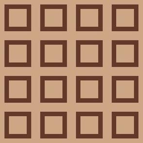 """Mocha-Cocoa Square - Light - 2"""""""